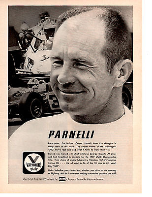 1969 Parnelli Jones / Formula 1 Racing  ~ Original Valvoline Ad