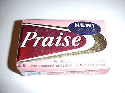 Vintage 1950's 1960's Praise Bar Soap Package Advertising Lever Brothers NEW!