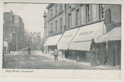 Suffolk postcard - High Street, Lowestoft - P/U 1904