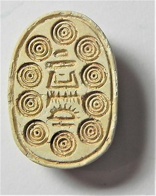 Zurqieh -Af1764- Ancient Egypt ,2Nd Intermediate Stone Scarab. 1782 - 1570 B.c