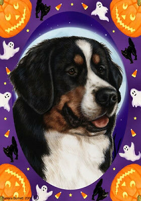 Garden Indoor/Outdoor Halloween Flag - Bernese Mountain Dog 120511