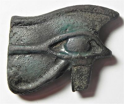 Zurqieh - Af1772- Ancient Large Faience Eye Of Horus Amulet, 1075 - 600 B.c