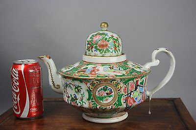 19th/20th C. Chinese Rose Medallion Teapot
