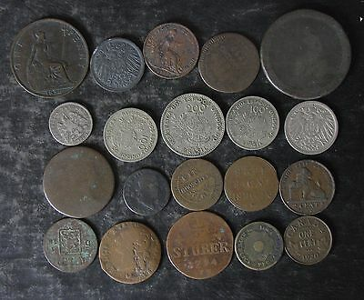 (20) pre-1950 World/Foreign Coin Collection - No Reserve