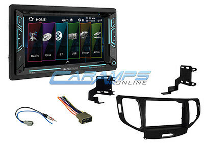 New Soundstream Stereo Radio Bluetooth & Auxiliary W Install Kit For 09-14 Tsx