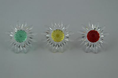 Swarovski Crystal Clear ''Red, Yellow & Green Daisy Sunflowers'' USC RD7129