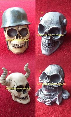 New Designs Latex Mould Molds To Make Detailed Ornament Skull 4 Design Helmet