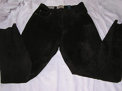Vintage Womens High Waisted Brown Suede Express Pants