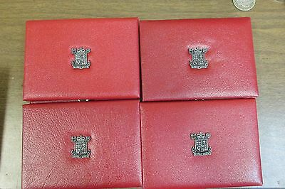 Lot of 4 Great Britain Coin Mint Sets 1984 1985 1986 1987 England