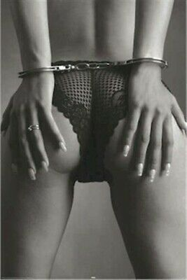 HANDCUFFS BEHIND BACK 24x36 PINUP POSTER Lingerie NEW/ROLLED!
