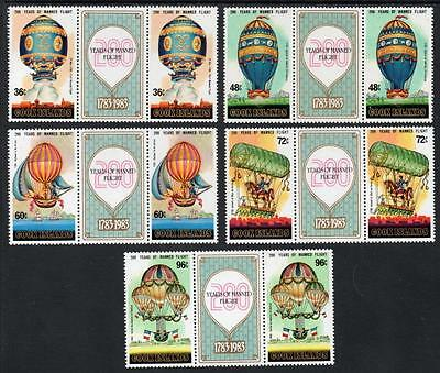 COOK ISLANDS MNH 1984 SG939-43 Bicentenary of Manned Flight pairs