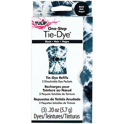 Tulip One-Step Tie-Dye Refill .13oz 3/Pkg-Black