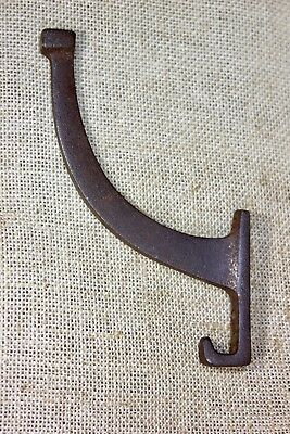 Coat Hook craftsman clothes tree bath robe rustic dark iron old hanger vintage
