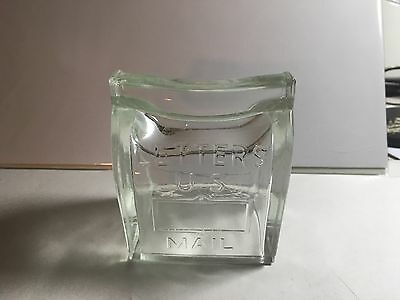 Letters U.S. Mail Mail Box glass candy container