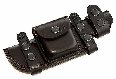 CFK Custom Handmade RIGHT or LEFT HAND Horizontal BROWN Scout Knife Blade sheath