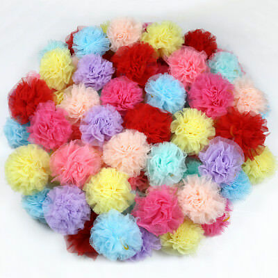 20pcs Dog Hair Bows Lace Flower Rubber Bands Pet Dogs Hair Accessories Grooming