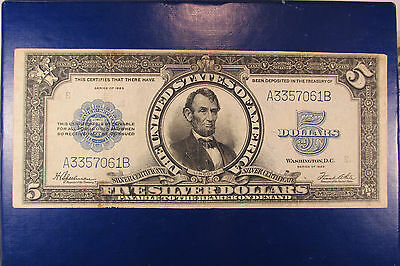 1923 $5 Silver Certificate FR282 Porthole Note