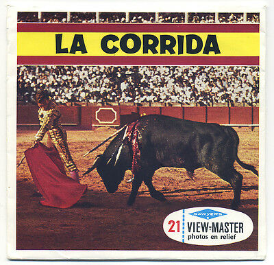 La Corrida Spanish Bullfight 1960's ViewMaster Packet C-255-F French edition