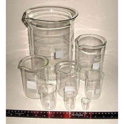 Selection of 10 mL through 4,000 mL Corning Pyrex Beakers