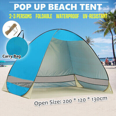 Pop Up Portable Beach Tent Canopy Sun Shade Shelter Outdoor Camping Fishing Mesh