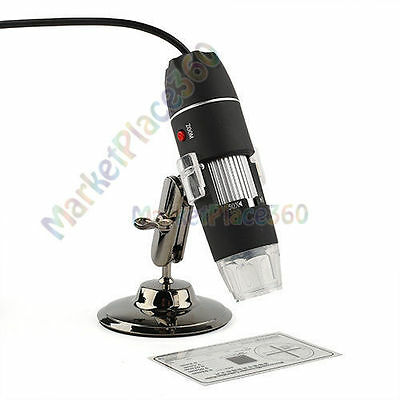 50-500X 2.0MP LED USB Digital Microscope Endoscope Magnifier Software Camera