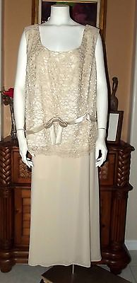 Sandra Darren Plus Size 2-Piece Mother of the Bride/Groom Lace Dress Size 30W