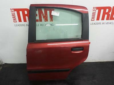 2005 FIAT PANDA 5 Door Hatchback Red N/S Passengers Left Rear Door