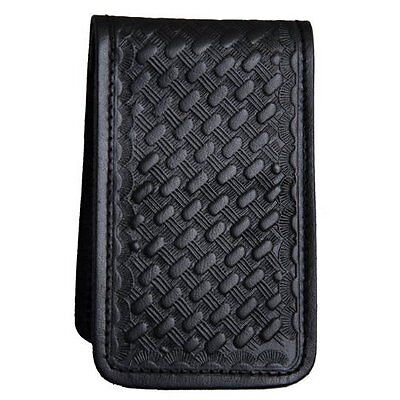 Police Detective Security Leather Memo Book Note Pad Holder Case Basketweave New