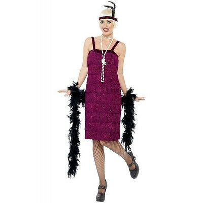 Déguisement robe charleston bordeaux adulte