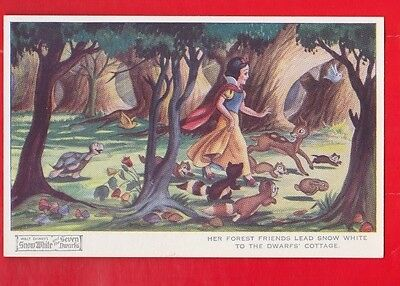 Disney, Snow White & 7 dwarfs, postcard- Her forest friends No 4168