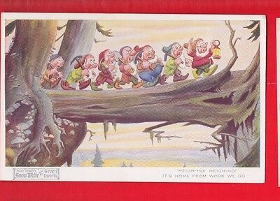 Disney, Snow White & 7 dwarfs, postcard- Heigh Ho! Heigh Ho! No 4169