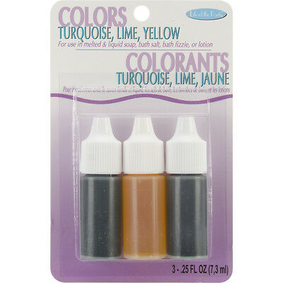 Colors .75oz 3/Pkg-Yellow, Turquoise & Lime, Set Of 3