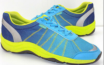 Vionic Alliance Orthotic Mesh Walking Sneakers Blue & Neon Women's 40 US Size 9M