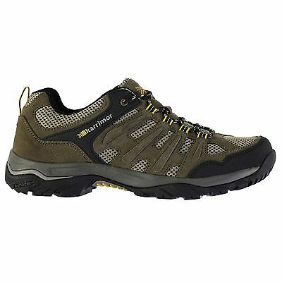 Karrimor Men Border Walking Lace Up Shoes Padded Ankle Collar Breathable Leather