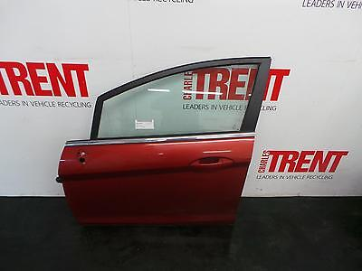 2009 FORD FIESTA 5 Door Hatchback Red N/S Passengers Left Front Door