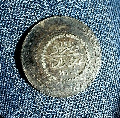 Iraq Rare Ottoman Empire Silver Coin Baghdad Mint