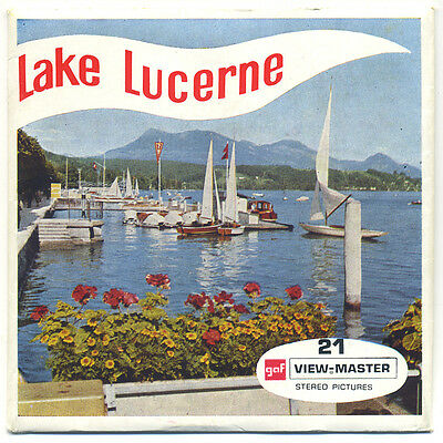 LAKE LUCERNE Switzerland Belgium-made ViewMaster Packet C-134-E English edition