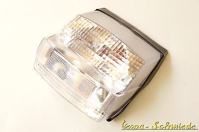 VESPA Rear light incl. Gasket & Light bulbs - White - PX old - Clear glass clear