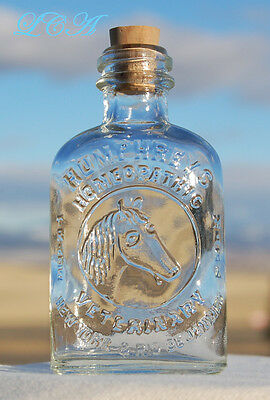 Little antique HUMPHREYS' VETERINARY MEDICINE bottle pic/ HORSE