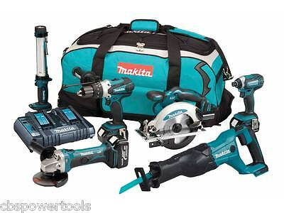 Makita DLX6044PT 18v 3x5.0Ah LXT 6 Piece Kit with Twin Port Charger