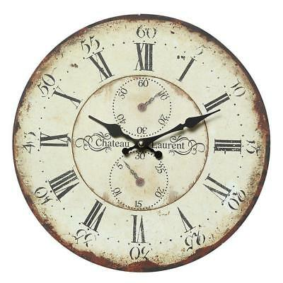 G1222: Gammlige Country house Wall clock with intentional Signs of usage,