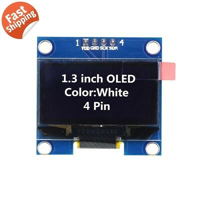 "1.3"" SSD1306 I2C 128X64 OLED Display Module Board For Arduino White US Seller"