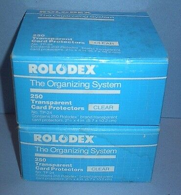 Vintage Rolodex 475 Transparent Card Protectors Clear Two Boxes New Old Stock