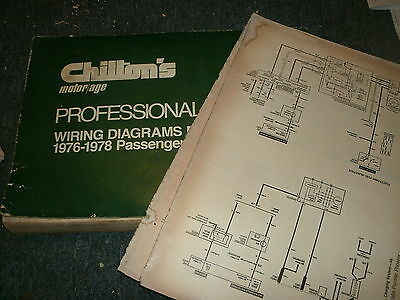1976 dodge aspen plymouth volare oversized wiring diagrams manual sheets set