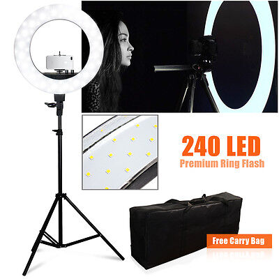 """LED Camera Photo 18""""outer 14""""inner 600W 5500K Ring Dimmable Flash Light Stand"""