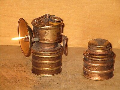 Miners/Cavers PREMIER CARBIDE LAMP With Extra Bottom-WORKING!!