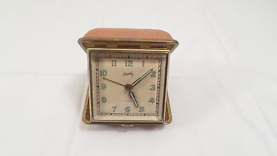 Vintage Bradley Germany US Zone Folding Travel Alarm Clock in Case