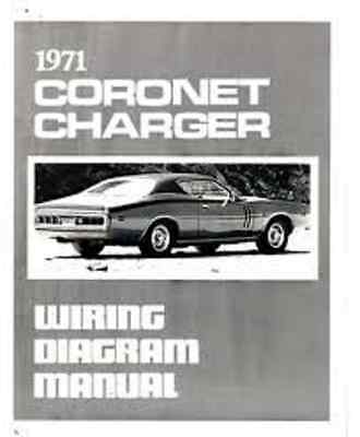 1971 dodge charger and coronet wiring diagrams schematics manual new