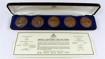 Heritage Mint Royal Century Collection Sovereign Obverse Penny Set 1899-1967