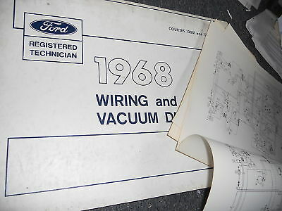 1969 FORD WIRING And Vacuum Diagrams Falcon,Fairlane And Montego ...